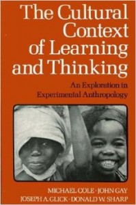 the cultural context of learning & thinking book cover